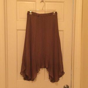 Club Monaco brown pleated skirt